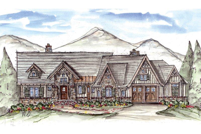 Craftsman Exterior - Front Elevation Plan #54-376
