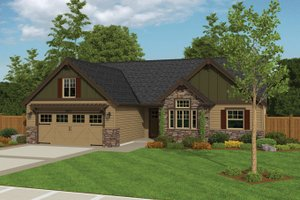 Architectural House Design - Ranch Exterior - Front Elevation Plan #943-40