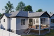 Ranch Style House Plan - 3 Beds 2.5 Baths 2734 Sq/Ft Plan #1060-99 Exterior - Rear Elevation