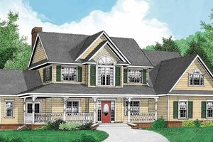 Country Exterior - Front Elevation Plan #11-271
