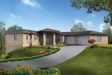 Dream House Plan - Mediterranean Exterior - Front Elevation Plan #132-279