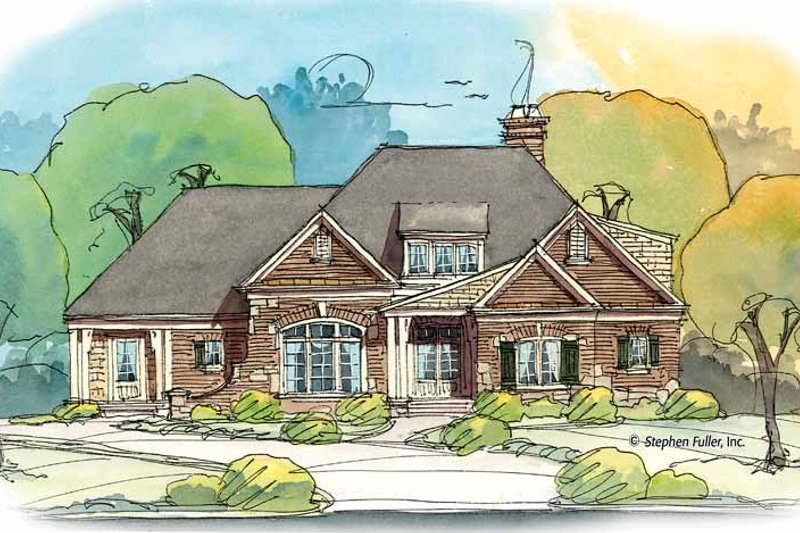 Home Plan - Bungalow Exterior - Front Elevation Plan #429-376