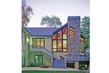 Home Plan - Contemporary Exterior - Rear Elevation Plan #314-287