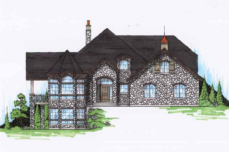 House Design - Mediterranean Exterior - Front Elevation Plan #945-60