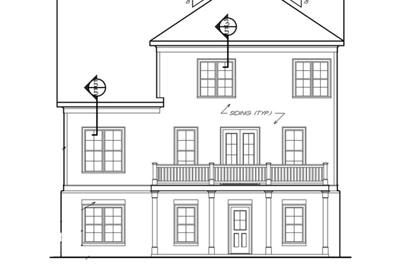 Traditional Exterior - Rear Elevation Plan #927-537 - Houseplans.com