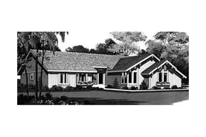 Ranch Exterior - Front Elevation Plan #72-452