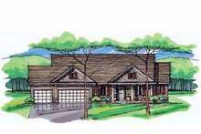 Architectural House Design - European Exterior - Front Elevation Plan #51-979