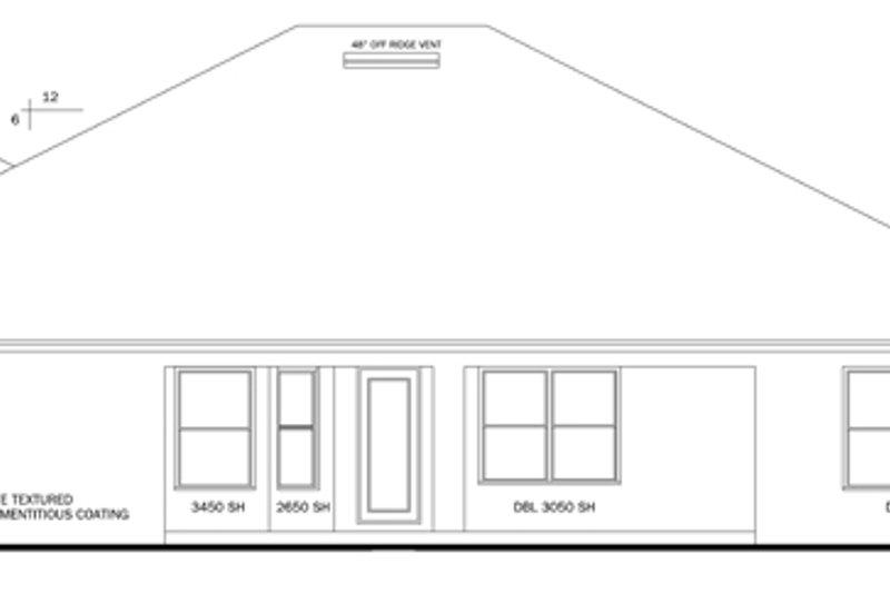 Traditional Exterior - Rear Elevation Plan #1058-50 - Houseplans.com