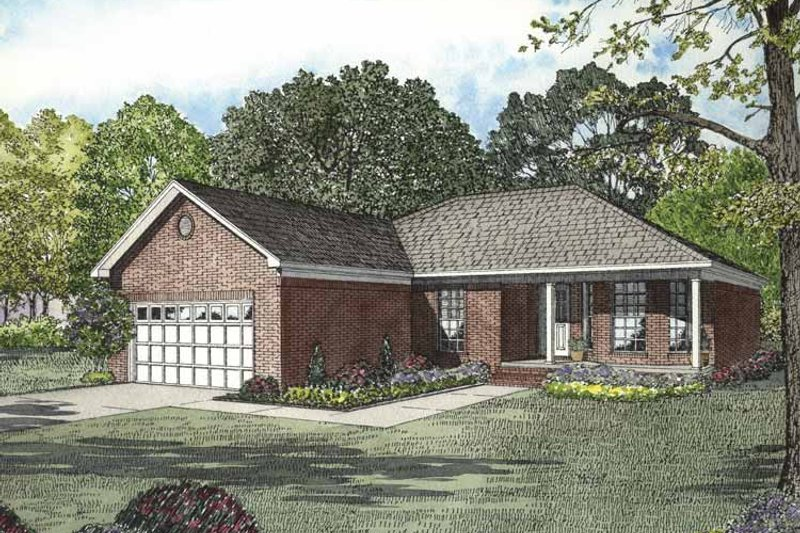 Dream House Plan - Ranch Exterior - Front Elevation Plan #17-2846
