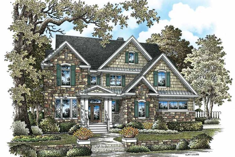 Craftsman Exterior - Front Elevation Plan #929-844
