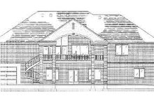 Home Plan - Traditional Exterior - Rear Elevation Plan #5-129