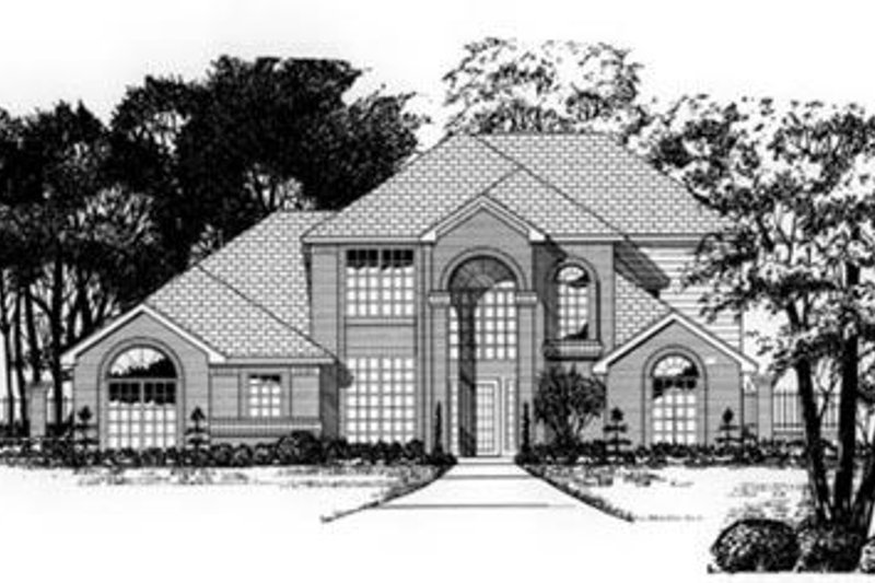 Traditional Exterior - Front Elevation Plan #62-116 - Houseplans.com