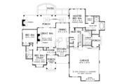 Craftsman Style House Plan - 3 Beds 2 Baths 1743 Sq/Ft Plan #929-999 Floor Plan - Main Floor