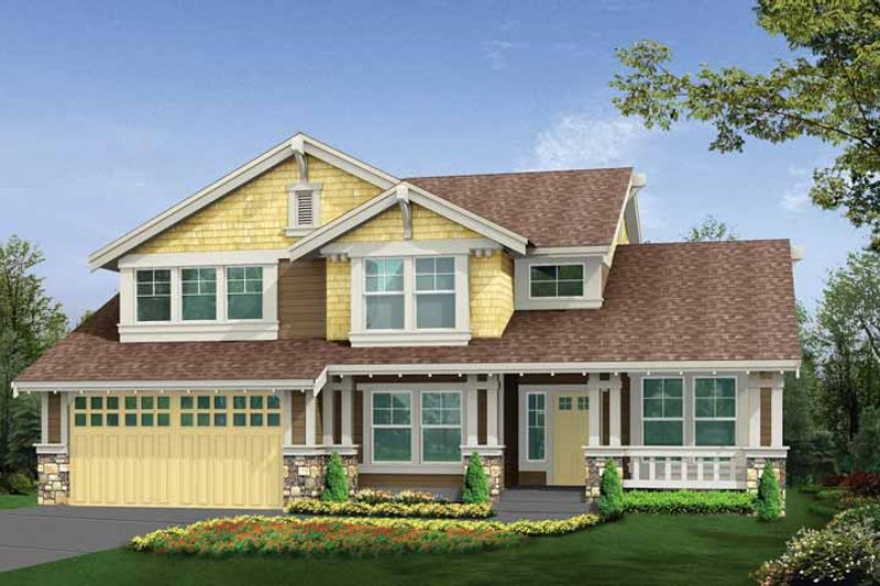 Craftsman Exterior - Front Elevation Plan #132-294