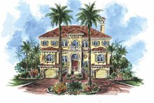 House Plan Design - Mediterranean Exterior - Front Elevation Plan #1017-79