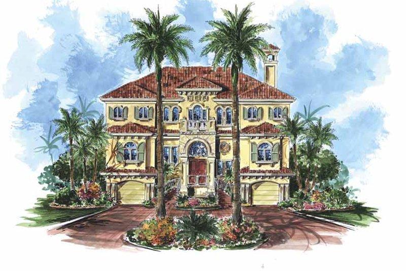 Dream House Plan - Mediterranean Exterior - Front Elevation Plan #1017-79