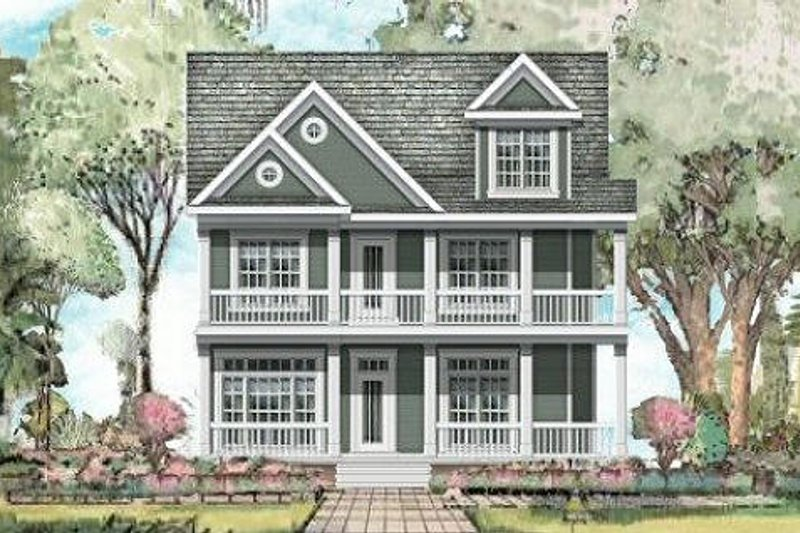 Traditional Style House Plan - 5 Beds 4 Baths 4700 Sq/Ft Plan #424-217 Exterior - Front Elevation