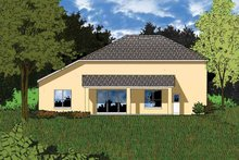 Architectural House Design - European Exterior - Rear Elevation Plan #1015-6