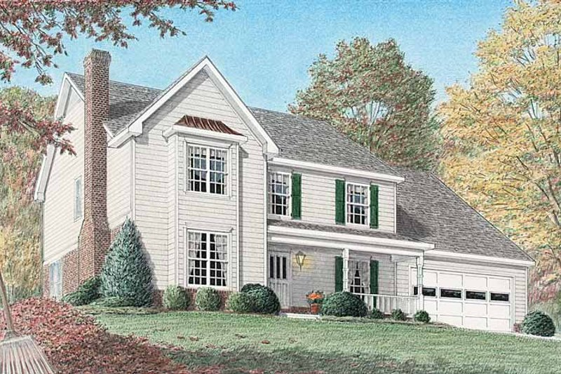 Country Exterior - Front Elevation Plan #34-243