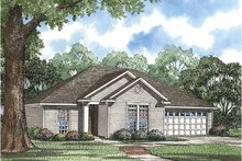Ranch Exterior - Front Elevation Plan #17-3008