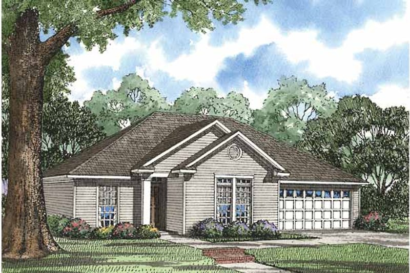 Home Plan - Ranch Exterior - Front Elevation Plan #17-3008