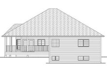Home Plan - Craftsman Exterior - Rear Elevation Plan #126-221