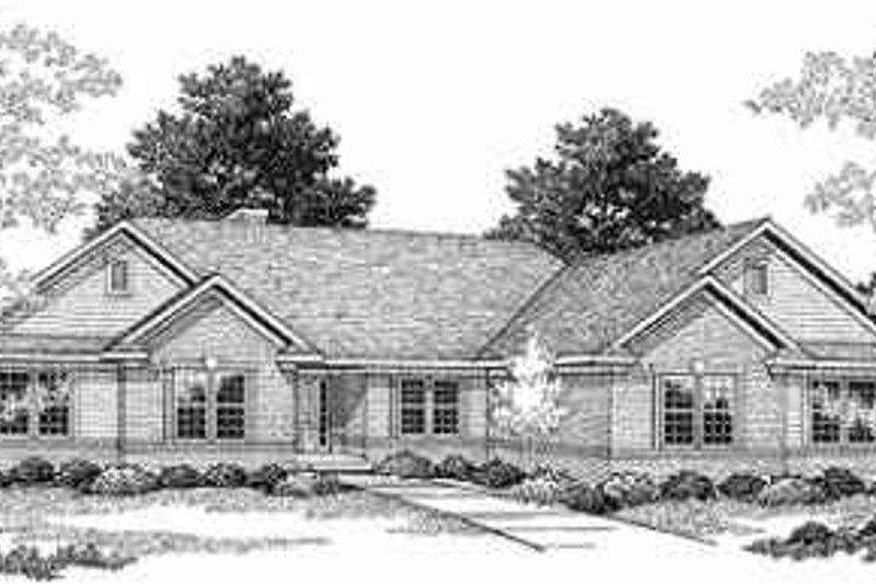 Traditional Exterior - Front Elevation Plan #70-364 - Houseplans.com