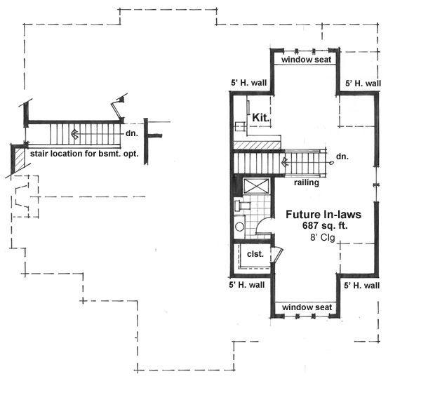 Craftsman Floor Plan - Upper Floor Plan #51-551