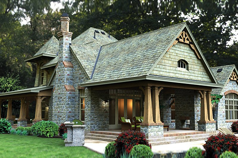 Craftsman Exterior - Rear Elevation Plan #120-247 - Houseplans.com