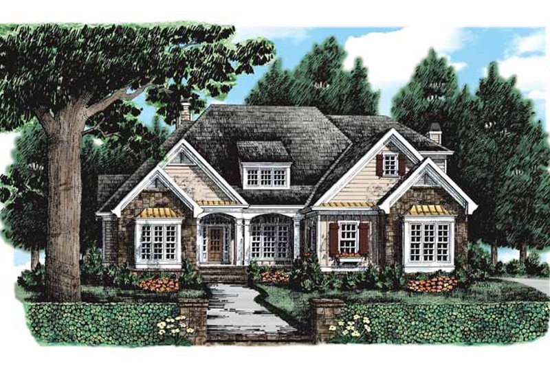 Country Exterior - Front Elevation Plan #927-131