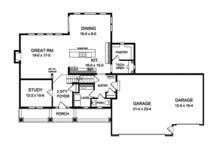 Traditional Floor Plan - Main Floor Plan Plan #1010-132