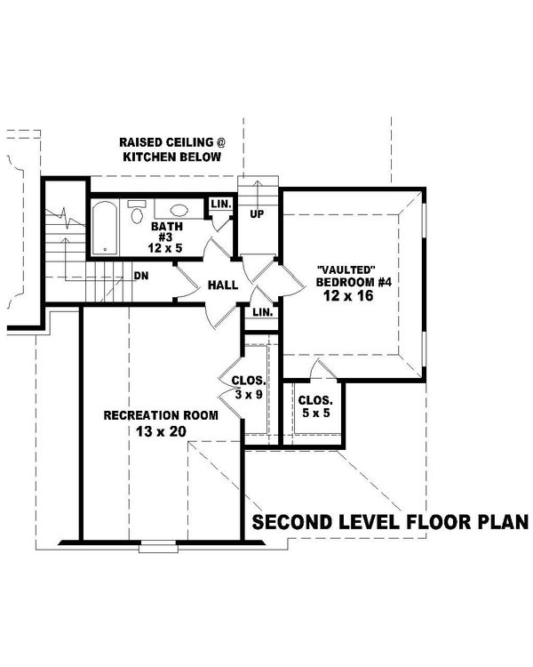 European Floor Plan - Upper Floor Plan Plan #81-13912