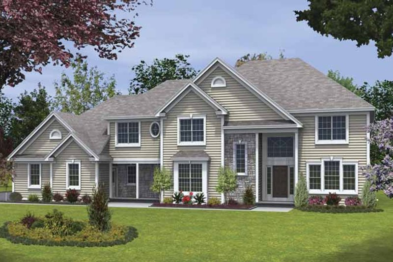 Dream House Plan - Traditional Exterior - Front Elevation Plan #328-461