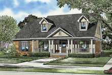 Country Exterior - Front Elevation Plan #17-3128