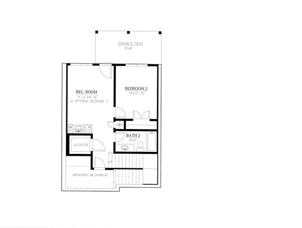 Craftsman Floor Plan - Lower Floor Plan Plan #437-91