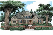 Tudor Exterior - Front Elevation Plan #927-422