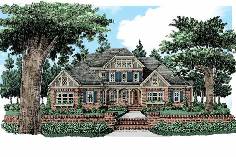 Tudor Exterior - Front Elevation Plan #927-422