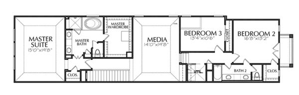 Traditional Floor Plan - Upper Floor Plan Plan #1021-19
