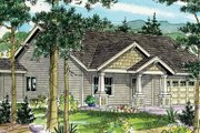 Craftsman Style House Plan - 3 Beds 2 Baths 1523 Sq/Ft Plan #124-781 Exterior - Front Elevation
