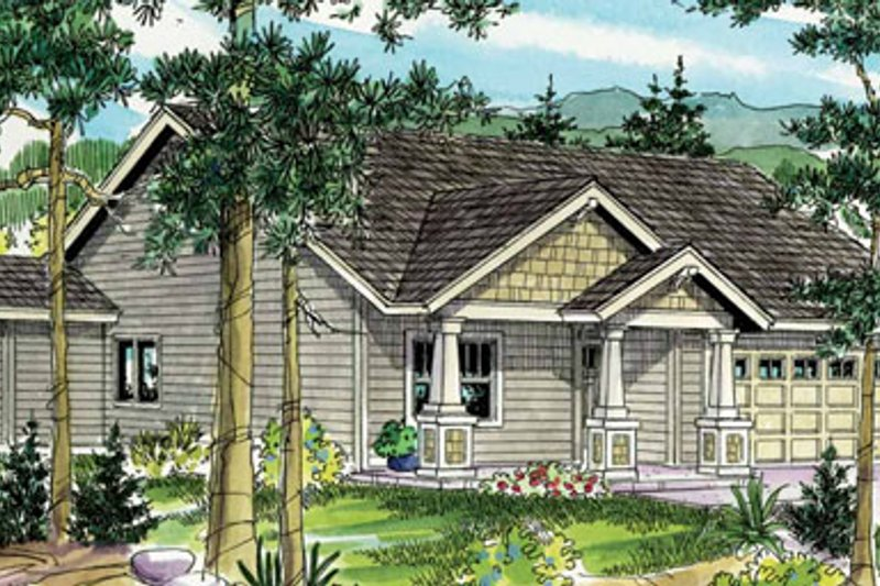 Craftsman Exterior - Front Elevation Plan #124-781