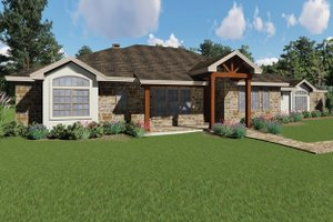 House Plan Design - Craftsman Exterior - Front Elevation Plan #935-10