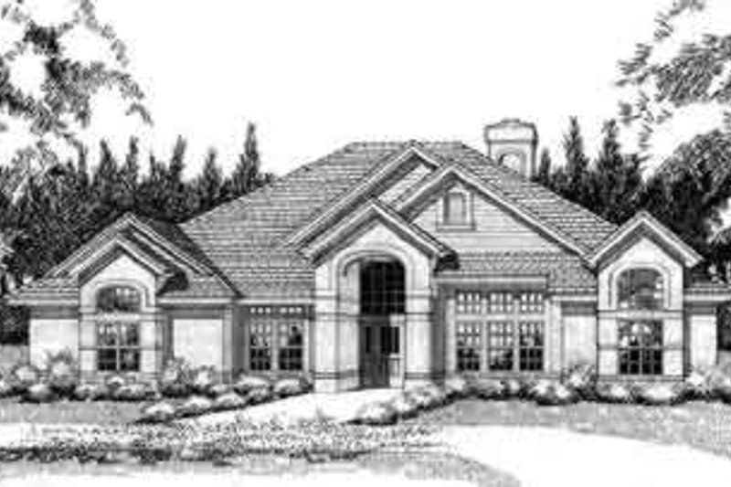 Mediterranean Exterior - Front Elevation Plan #120-120