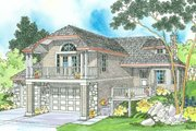 Contemporary Style House Plan - 2 Beds 2 Baths 1718 Sq/Ft Plan #124-323 Exterior - Front Elevation