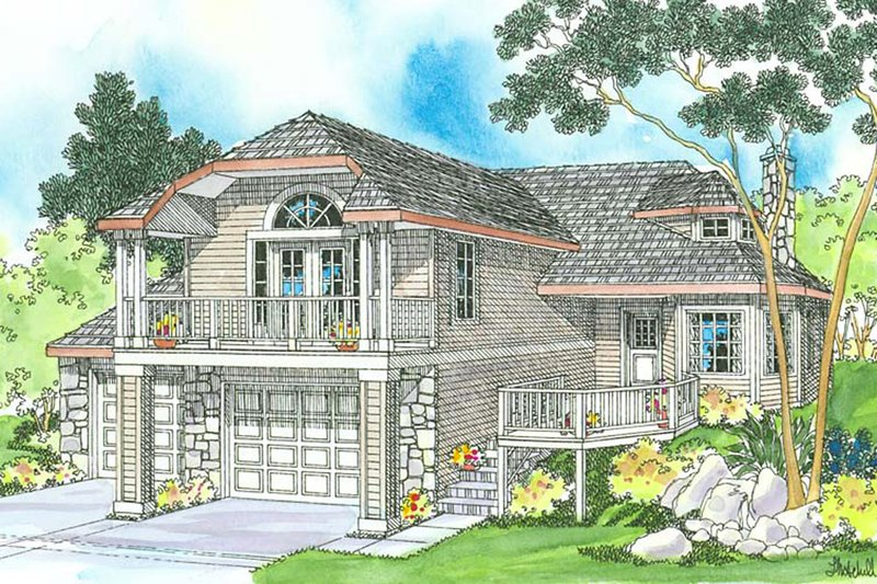 Home Plan - Contemporary Exterior - Front Elevation Plan #124-323