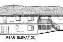 House Blueprint - Ranch Exterior - Rear Elevation Plan #18-144