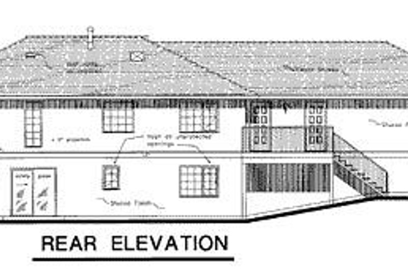 Ranch Exterior - Rear Elevation Plan #18-144 - Houseplans.com