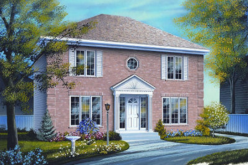 Home Plan - Colonial Exterior - Front Elevation Plan #23-736