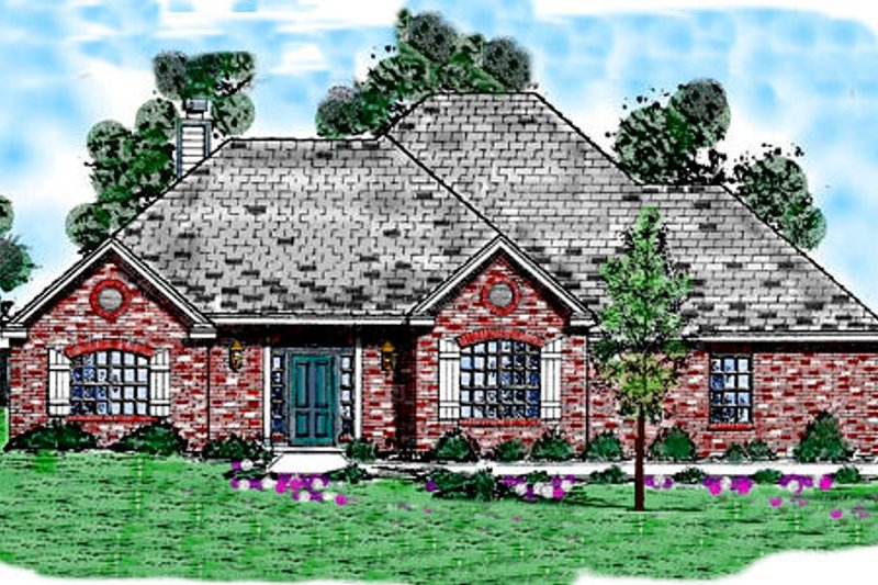 European Exterior - Front Elevation Plan #52-185 - Houseplans.com