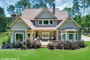 Craftsman Style House Plan - 4 Beds 3 Baths 2876 Sq/Ft Plan #929-30 Exterior - Rear Elevation