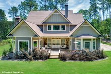 House Plan Design - Craftsman Exterior - Rear Elevation Plan #929-30